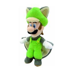 Peluche Super Mario : Luigi écureuil (25 cm)