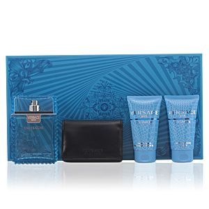 Versace Man Eau Fraîche - Coffret eau de toilette, gel douche, baume après-rasage et portefeuille