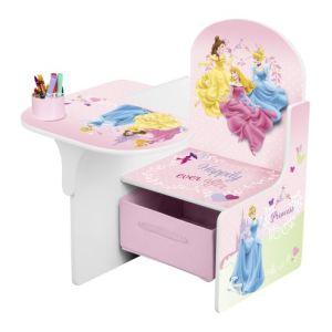 Delta Children Pupitre banc et coffre Princesse 2 en 1