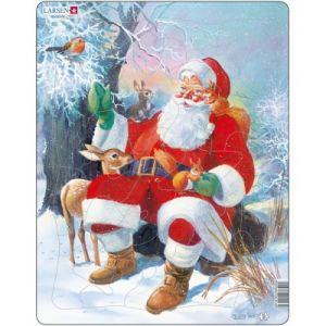 Larsen Le père Noël et ses animaux - Puzzle cadre 32 pièces