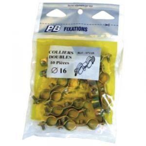PB Fixation 56049 - Collier 7x150 double D16x18 en sachet zippé de 10