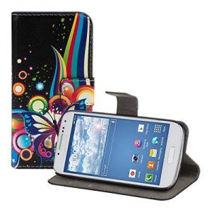 Kwmobile 16574 - Étui en cuir chic pour Samsung Galaxy S4 Mini I9190 / I9195