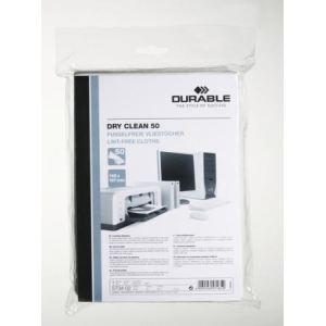 Durable 5734-02 - Boîte de 50 lingettes Dry Clean (14,5x19,7 cm)