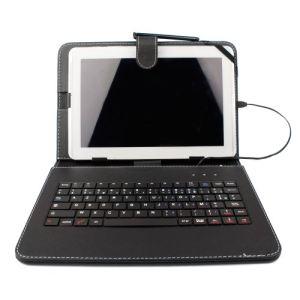 """Duragadget Etui aspect cuir avec clavier intégré, port de maintien et stylet pour tablette Archos Arnova 10 Tablette Pc, 101 Internet Tablet et 101 G9 10,1"""""""