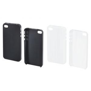 Muvit MUBKC0349 - Coque Ultrafine + film protecteur d'écran pour iPhone 4/4S