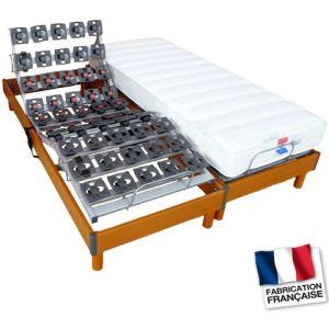 Dorlux Ensemble relaxation 2 matelas mousse et 2 sommier (2 x 80 x 200 cm)