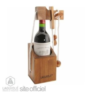 Laguiole Laguiole casse tête pour bouteille constitué de 3 pièces en corde et bois d'hévéa