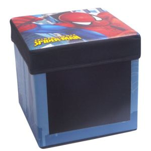 Fun House Boîte de rangement Spiderman avec ardoise en carton