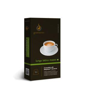 Gourmesso 10 capsules Lungo Latino Mezzo (Intensité 7) compatible avec les machines Nespresso