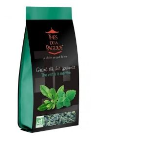Thés de la pagode Thé vert à la menthe - Sachet de 110 g
