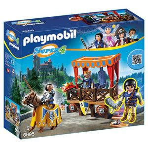 Playmobil 6695 Super4 - Tribune royale avec alex