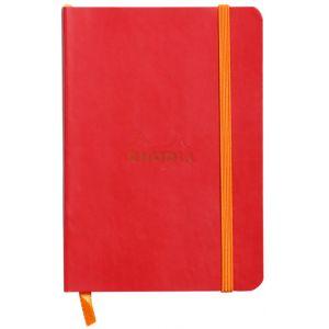 Rhodia 117313C Rhodiarama coquelicot  - Carnet souple format 10,5 x 14,8 cm 144 pages ligné