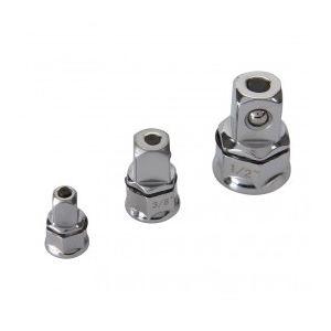Silverline 959681 - Jeu de 3 adaptateurs pour clé à cliquet