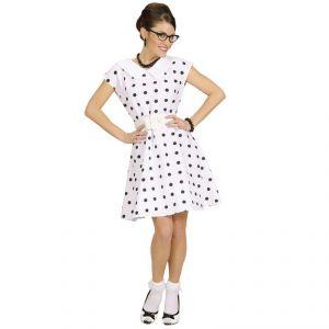 Widmann Déguisement robe blanche à pois années 50 femme