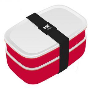 Zak! Designs Boîte lunch rectangulaire en polypropylène avec couverts (10 x 18 cm)