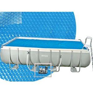 Intex K860BX - Bâche à bulles 4,50 x 2,60 m pour piscine tubulaire rectangulaire 4,57 x 2,74 m