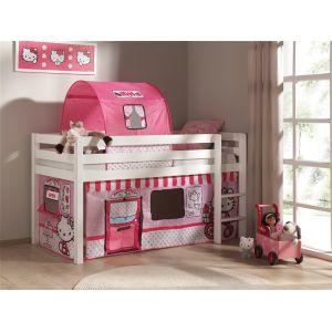 Worlds Apart Rideau Hello Kitty pour lits surélevés 90 x 200 cm