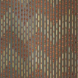 Morel Rideau de porte Romarin en perles de bambou 90 x 200 cm