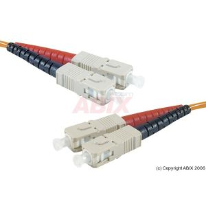 Abix 390350 - Cordon fibre optique SC/SC 62,5/125 5m