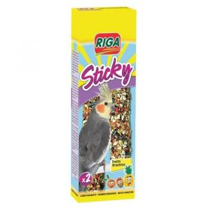 Riga Sticky grandes perruches x 2 oiseaux