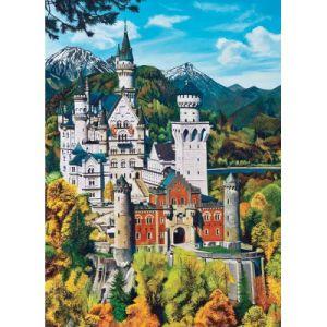 Cobble hill Château de Neuschwanstein, Allemagne - Puzzle 1000 pièces