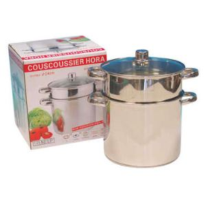 Table passion Couscoussier bas en inox (24 cm)