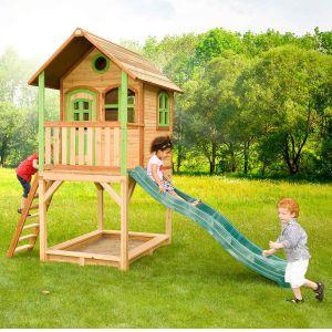 Axi Sarah - Maisonnette en bois sur hauts pilotis avec bac à sable