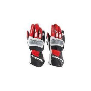 Spidi STR-2 (noir et rouge) - Gants moto en cuir pour homme
