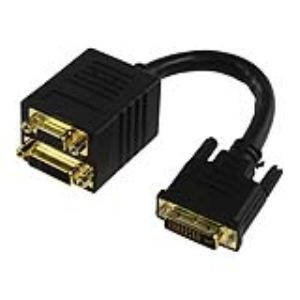 CABLE-562 - Splitteur de câble DVI-I vers DVI-I + VGA 0.1m