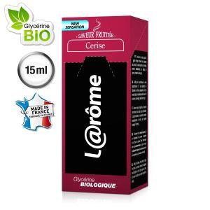 L@rôme E-Liquide saveur cerise V2 pour cigarette électronique rechargeable (Nicotine 0) 15 ml