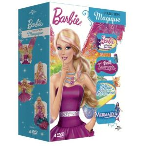Coffret Barbie : Le Secret des Fées + Fairytopia, La Magie de l'Arc-en-Ciel + Mermaidia