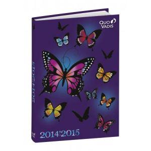 Quo Vadis Agenda scolaire multilingue 12x17 Butterfly motifs Papillons