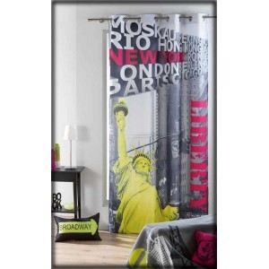 Rideau à oeillets New York Statue de la Liberté (140 x 240 cm)