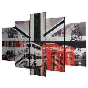 Graham & Brown Set de 5 toiles London (150 x 100 cm)