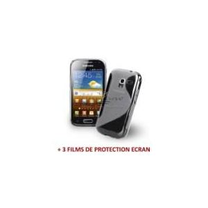 "Muzzano F48S02 - Coque pour Samsung Galaxy Ace2 ""Le S"" Premium T + 3 films de protection"