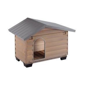 Ferplast Niche en bois Canada pour chien (110 x 69,5 x 74,5 cm)
