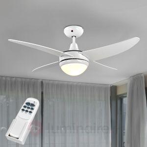 Lampenwelt Finnley - Ventilateur de plafond lumineux 4 pales avec télécommande