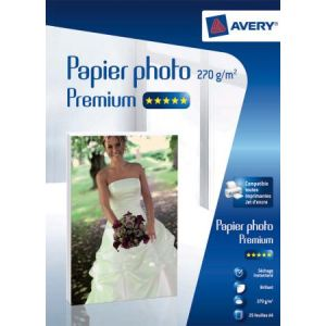Avery-Zweckform 2739 - 25 feuilles papier photo brillant 270 g/m² (A4)