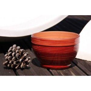 Clair de Terre Stromboli - Poterie en terre cuite émaillée forme coupe Ø22 x 15 cm
