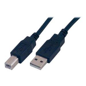 MCL Samar MC922AB-2M/N - Câble USB à 4 broches type A (M) vers type B (M) 2m