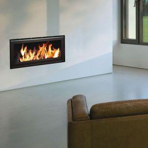 Termofoc C1000 - Insert à bois cadre en acier et verre + Kit de ventilation pour insert C1000