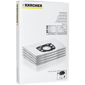 Kärcher 6.904-413.0 - 4 sacs en filtre ouate pour aspirateurs eau et poussières