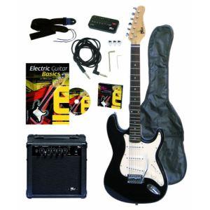 Voggenreiter VOLT EG100 guitare électrique type Strat + Accessoires - Kit complet pour Rockers