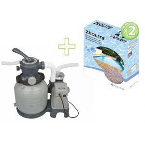 Intex 28646ZEO - Filtre à sable 6 m3/h + 20 kg de Zéolite