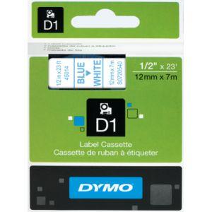 Dymo S0720540  - Ruban d'étiquettes bleu sur blanc - rouleau (1,27 cm x 7 m)