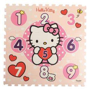 Tatamiz Tapis puzzle Hello Kitty 123 coeurs