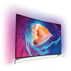 Philips 55PUS8700 - Téléviseur LED incurvé 4K 3D 140 cm Ambilight Spectra 3