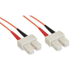 Inline 83510 - Câble fibre optique duplex SC/SC 50/125µm 10m