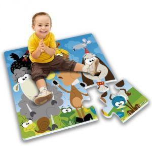 Stamp Tapis puzzle géant en mousse animaux de la campagne (9 pièces)