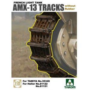 Takom AMX-13 -  Set de chenille sans patin en caoutchouc